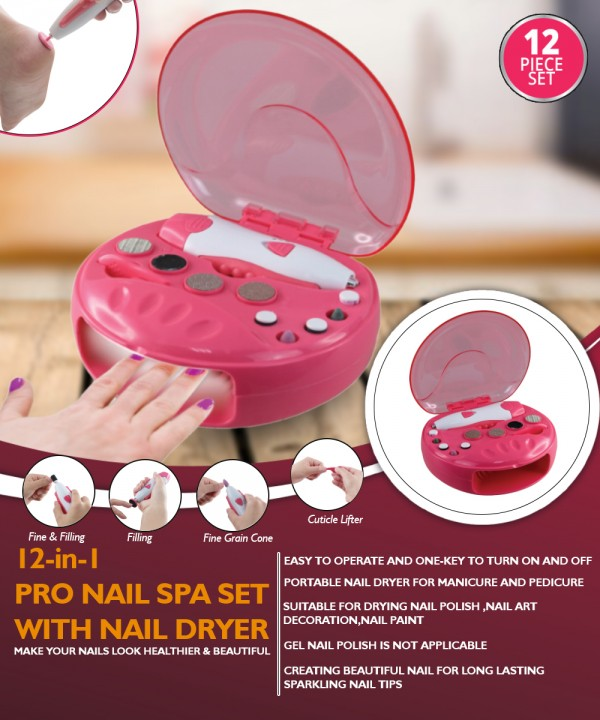 Manicure And Pedicure Kit With Nail Dryer | Splendid Wedding Company